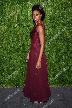 Condola Rashad attends the 15th annual CFDA / Vogue Fashion Fund event at the Brooklyn Navy Yard, in New York