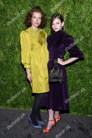 Batsheva Hay, Mackenzie Foy. Designer Batsheva Hay, left, and actress Mackenzie Foy attends the 15th annual CFDA / Vogue Fashion Fund event at the Brooklyn Navy Yard, in New York