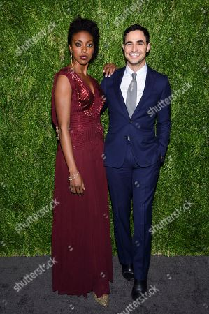 Condola Rashad, Zac Posen. Actress Condola Rashad, left, and fashion Zac Posen attend the 15th annual CFDA / Vogue Fashion Fund event at the Brooklyn Navy Yard, in New York
