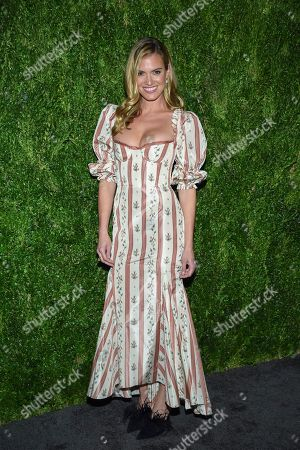 Laura Brock attends the 15th annual CFDA / Vogue Fashion Fund event at the Brooklyn Navy Yard, in New York