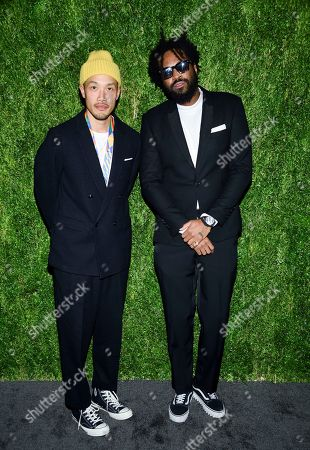 Dao-Yi Chow, Maxwell Osborne. Designers Dao-Yi Chow, left, and Maxwell Osborne attend the 15th annual CFDA / Vogue Fashion Fund event at the Brooklyn Navy Yard, in New York