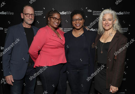 Filmmaker David Heilbroner and Kate Davis with Sisters of Sharon Bland Shante Needham and Sharon Cooper (center)