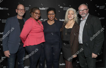 Filmmaker David Heilbroner, Shante Needham, Sharon Cooper, Kate Davis and IDAs Simon Kilmurry