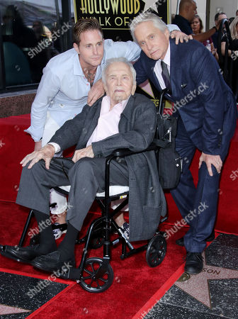 Cameron Douglas, Michael Douglas and Kirk Douglas