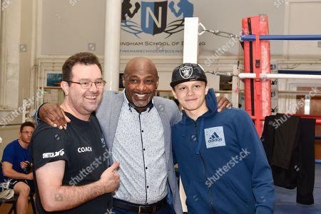 Jonny Nelson with Herol Graham