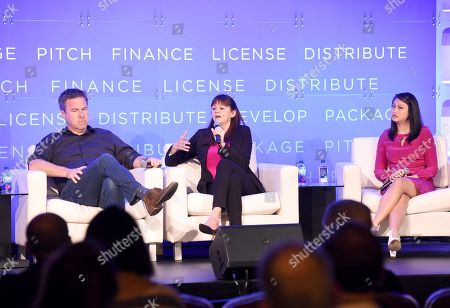 Basil Iwanyk, Founder, Thunder Road Pictures, Lisa Gutberlet, EVP, International Sales & Acquisitions, Blue Fox Entertainment, and Cybill Lui, Producer, Anova Pictures
