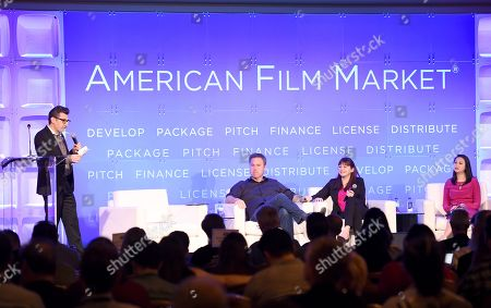 Clay Epstein, President, Film Mode Entertainment, Basil Iwanyk, Founder, Thunder Road Pictures, Lisa Gutberlet, EVP, International Sales & Acquisitions, Blue Fox Entertainment, and Cybill Lui, Producer, Anova Pictures