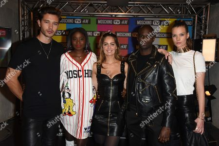 Francisco Lachowski, Karidja Toure, Marie-Ange Casta, Loic Mabanza and Jessieann Lachowski