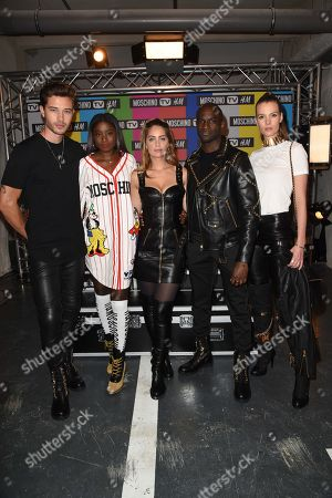 Stock Photo of Francisco Lachowski, Karidja Toure, Marie-Ange Casta, Loic Mabanza and Jessieann Lachowski