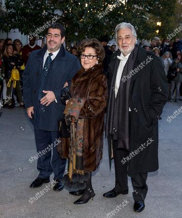Placido Domingo, Marta Ornelas and su hijo çlvaro Domingo