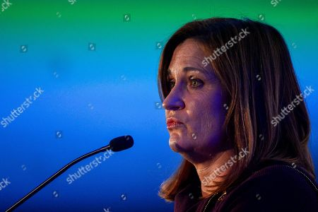 Democratic Utah Senate candidate Jenny Wilson gives a concession speech at an election night party in Salt Lake City