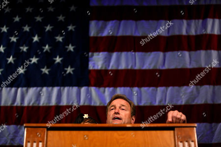 Sen. Dean Heller, R-Nev., speaks during the NVGOP Election Night Watch Party in Las Vegas