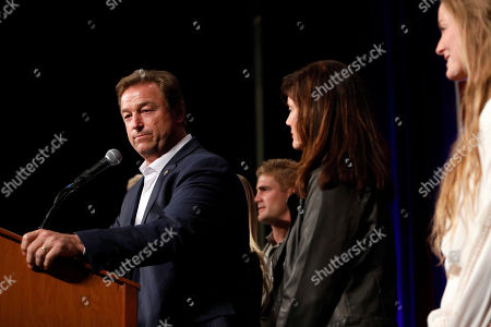 Sen. Dean Heller, R-Nev., makes his concession speech during the NVGOP Election Night Watch Party in Las Vegas. Heller lost to Democrat Jacky Rosen