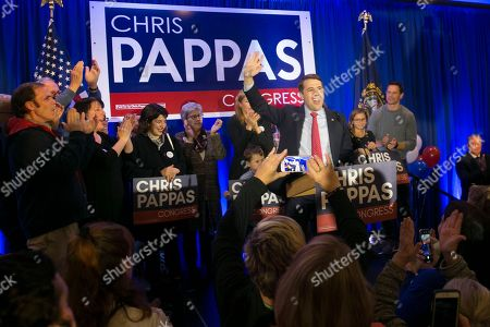 Editorial picture of Democrat Chris Pappas declares victory in the 2018 mid-term elections, Manchester, USA - 06 Nov 2018