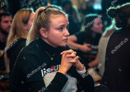 A supporter watches as US Senator Claire McCaskill concedes defeat to Missouri Attorney General Josh Hawley in the 2018 mid-term general election during an election night party Marriott St. Louis Grand in Saint Louis, Missouri USA, 06 November 2018. McCaskill, a Democrat, was defeated by Republican Hawley.