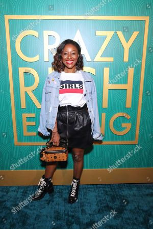 "Kinya Claiborne seen at Crazy Rich Eating: A Pop-Up Restaurant Inspired by ""Crazy Rich Asians"", in West Hollywood, Calif"