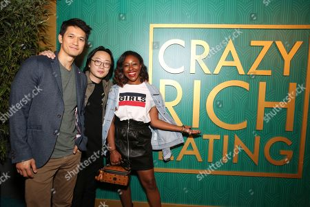 "Harry Shum Jr., Jimmy O. Yang, Kinya Claiborne. Harry Shum Jr., Jimmy O. Yang and Kinya Claiborne seen at Crazy Rich Eating: A Pop-Up Restaurant Inspired by ""Crazy Rich Asians"", in West Hollywood, Calif"