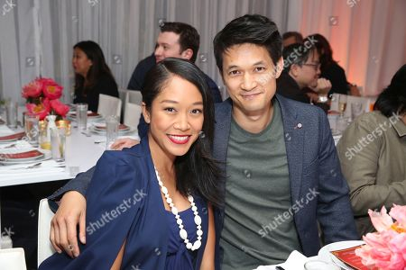 """Shelby Rabara, Harry Shum Jr. Shelby Rabara and Harry Shum Jr. seen at Crazy Rich Eating: A Pop-Up Restaurant Inspired by """"Crazy Rich Asians"""", in West Hollywood, Calif"""