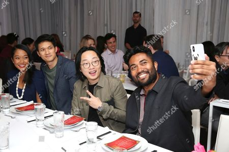 """Shelby Rabara, Harry Shum Jr., Jimmy O. Yang, Zaki Hashem. Shelby Rabara, Harry Shum Jr., Jimmy O. Yang and Zaki Hashem seen at Crazy Rich Eating: A Pop-Up Restaurant Inspired by """"Crazy Rich Asians"""", in West Hollywood, Calif"""