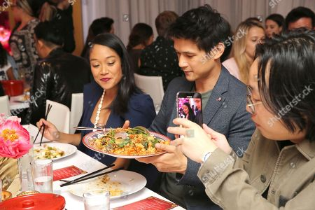 """Shelby Rabara, Harry Shum Jr., Jimmy O. Yang. Shelby Rabara, Harry Shum Jr., and Jimmy O. Yang seen at Crazy Rich Eating: A Pop-Up Restaurant Inspired by """"Crazy Rich Asians"""", in West Hollywood, Calif"""