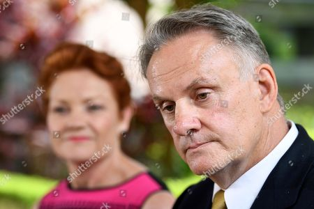 One Nation Party leader Pauline Hanson (L) and One Nation candidate and state leader for NSW Mark Latham speak to the media in Sydney, New South Wales (NSW), Australia, 07 November 2018. Mark Latham is joining forces with Pauline Hanson's One Nation to chase a seat in the NSW parliament. Latham, who is running as an upper house candidate, will also lead the minor party in NSW.