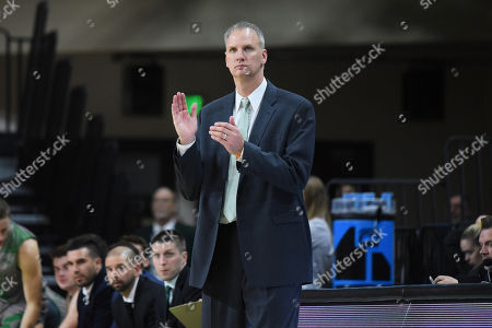 North Dakota Head Coach Brian Jones during a NCAA men's college basketball game between the Northland College LumberJacks and the University of North Dakota Fighting Hawks at Betty Engelstad Sioux Center in Grand Forks, ND. North Dakota won 104-48