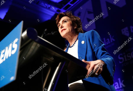 Rep. Jacky Rosen, D-Nev., speaks at a Democratic election night party, in Las Vegas, after defeating Sen. Dean Heller, R-Nev