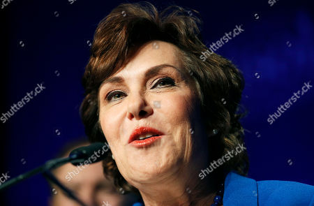Rep. Jacky Rosen, D-Nev., speaks at a Democratic election night party after wining beating Sen. Dean Heller, R-Nev., in Las Vegas