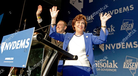 Editorial picture of Democrat Jacky Rosen declares in the 2018 mid-term elections, Las Vegas, USA - 06 Nov 2018