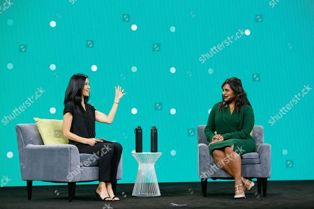 Mindy Kaling, Lisa Ling. Producer, actress and director Mindy Kaling, right, chats with emcee Lisa Ling on stage at Intuit's QuickBooks Connect, in San Jose, Calif