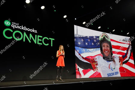 Amy Purdy inspires attendees to turn hardships into championships during QuickBooks Connect, in San Jose, Calif
