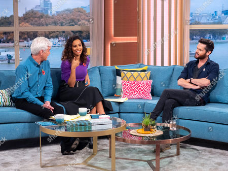 Phillip Schofield and Rochelle Humes with Tom Riley