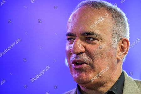 Stock Image of Russian-Armenian chess grandmaster and Security Ambassador Garry Kasparov during the third day of the Web Summit 2018 in Lisbon, Portugal, 07 November 2018. The Web Summit 2018, considered the largest innovation event of startups and technological entrepreneurship in the world, runs from 04 to 08 November 2018 at Altice Arena and FIL pavilion in Parque das Nacoes in Lisbon.