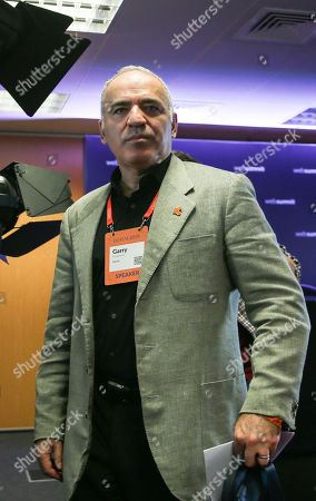 Stock Photo of Russian-Armenian chess grandmaster and Security Ambassador Garry Kasparov attends the third day of the Web Summit 2018 in Lisbon, Portugal, 07 November 2018. The Web Summit 2018, considered the largest innovation event of startups and technological entrepreneurship in the world, runs from 04 to 08 November 2018 at Altice Arena and FIL pavilion in Parque das Nacoes in Lisbon.