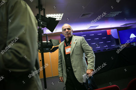Russian-Armenian chess grandmaster and Security Ambassador Garry Kasparov attends the third day of the Web Summit 2018 in Lisbon, Portugal, 07 November 2018. The Web Summit 2018, considered the largest innovation event of startups and technological entrepreneurship in the world, runs from 04 to 08 November 2018 at Altice Arena and FIL pavilion in Parque das Nacoes in Lisbon.