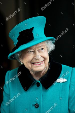 Queen Elizabeth II opens new Headquarters of Schroders, London