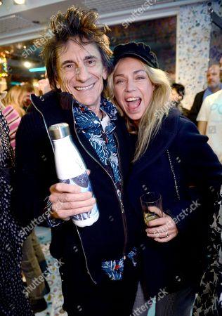 Ronnie Wood and Jeanne Marine