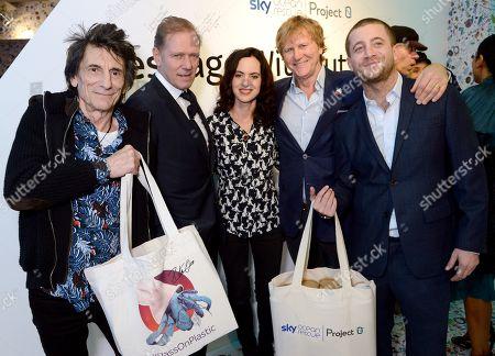 Ronnie Wood, Paul Simonon, Sally Wood, Dr Christopher Evans and Tyrone Wood