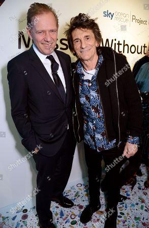 Paul Simonon and Ronnie Wood