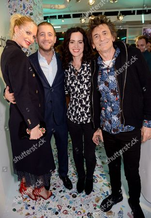 Stock Image of Poppy Delevigne, Tyrone Wood, Sally Wood and Ronnie Wood