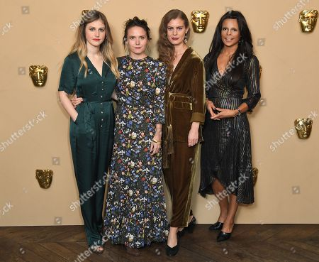 Stock Picture of Ria Zmitrowicz, Lucy Cohen, Ellena Wood and Annie Price