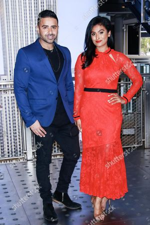 Editorial image of Jay Sean and Nina Davuluri light the Empire State Building, New York, USA - 07 Nov 2018
