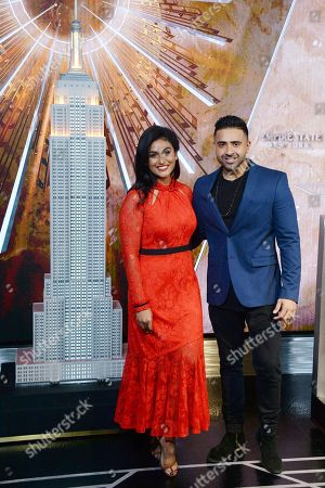 Stock Picture of Nina Davuluri and Jay Sean