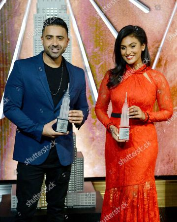 Editorial picture of Jay Sean and Nina Davuluri light the Empire State Building, New York, USA - 07 Nov 2018