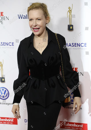 "Stock Picture of Sunnyi Melles on the Red Carpet for the 'Goldene Bild der Frau"" Awards ceremony in Hamburg, northern Germany, 07 November 2018. The 'Goldene Bild der Frau' is awarded to women in voluntary positions."