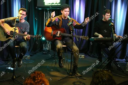 Stock Image of Arkells - Mike DeAngelis, Max Kerman and Anthony Carone