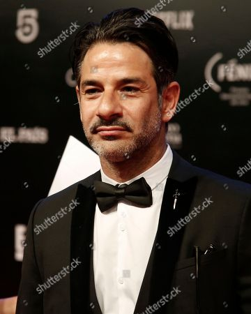 Mexican actor Miguel Rodarte poses for photographers on his red carpet walk during the Fenix Iberoamerican Film Awards at the Esperanza Iris Theater in Mexico City