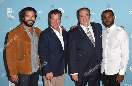 Paul Sloan, screenwriters Brian Currie, Nick Vallelonga, and Composer Christopher Bowers attends the 2018 Napa Valley Film Festival opening night screening of Green Book, Napa, California, USA - 7 Nov 2018