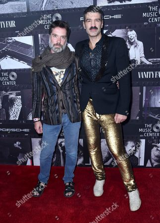 Rufus Wainwright, Jorn Weisbrodt. Rufus Wainwright, left, and Jorn Weisbrodt arrive at JONI 75: A Birthday Celebration, at the Dorothy Chandler Pavilion in Los Angeles