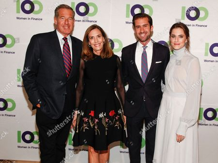 Stock Picture of Brian Williams, Jane Williams, Douglas Williams, Allison Williams. Brian Williams, from left, Jane Williams, Douglas Williams and Allison William attends the 100 Women in Finance (100WF) and Horizons National host joint fundraising gala at Cipriani 42nd Street, in New York